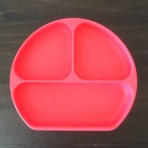 Bumkins Silicone Grip Dish | Coral Pink